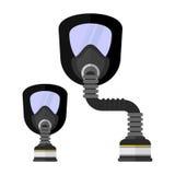 Masque de gaz de vêtements de travail pour la protection chimique Photo libre de droits