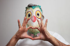 Masque de hibou Images libres de droits