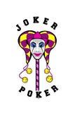 Masque de joker sur un bâton Photos stock