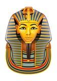 Masque de l'Egypte Pharaon de vecteur illustration stock