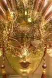 Masque de luxe d'or Photo stock