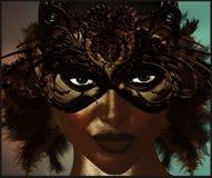 Masque de mascarade avec des plumes. Photographie stock libre de droits