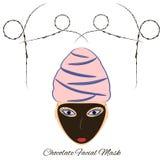 Masque de massage facial de chocolat illustration libre de droits