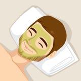 Masque de massage facial de traitement d'acné Image libre de droits
