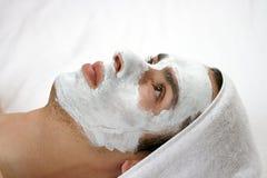 Masque de nettoyage Photos stock
