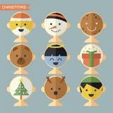 Masque de Noël Photographie stock libre de droits