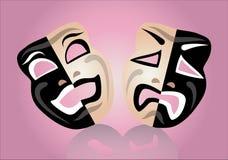 Masque de théâtre illustration libre de droits