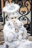 Masque de Venise avec l'ours Images stock