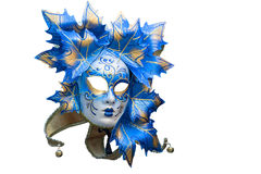 Masque de Venitian de bleu et d'or image libre de droits