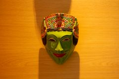 Masque de wayang en Indonésie image libre de droits