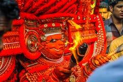 Masque des dieux au Kerala Photo stock