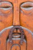 Masque en bois avec le fer à cheval Photo libre de droits