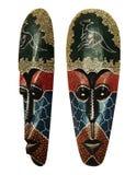 Masque en bois d'idole indigène Photographie stock libre de droits