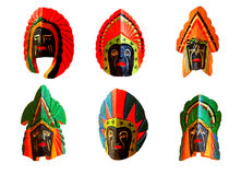 Masque en bois de couleur Photo libre de droits