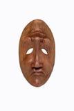 Masque en bois de joie et de tristesse Photo stock