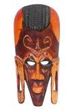 Masque en bois de Maasai de guerrier découpé par main africaine Photo libre de droits