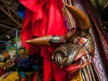 Masque en bois de verrat Images stock
