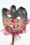 Masque en céramique d'imagination Images libres de droits