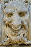 Masque en pierre Photo stock