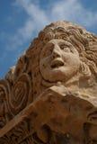 Masque en pierre de théâtre, Myra, Turquie Photographie stock