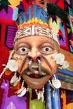 Masque et édredon péruviens Photographie stock libre de droits