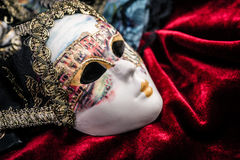 Masque et fan de carnaval Photographie stock libre de droits