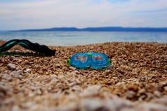 Masque et nageoire photo stock