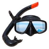 Masque et prise d'air de plongée Photographie stock