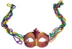 Masque et programmes de mardi gras Photos stock