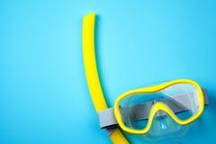 Masque et tube naviguants au schnorchel Photo libre de droits
