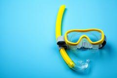 Masque et tube naviguants au schnorchel Photo stock