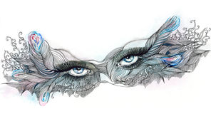 Masque fleuri illustration libre de droits