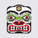 Masque géométrique de haida Photographie stock