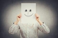 Masque heureux d'émotion photographie stock