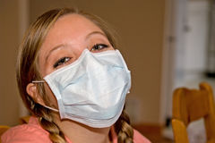 Masque médical d'empêchement de grippe de porcs Photographie stock libre de droits