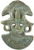 Masque maya aztèque de Dieu de maïs - Mexique Images libres de droits