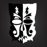 Masque noir et blanc Photographie stock libre de droits