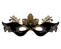 Masque noir sur un fond blanc Image libre de droits