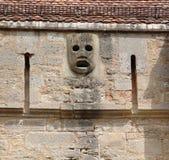 Masque obtenu de lancement sur le Burgtor dans Rothenburg image libre de droits
