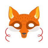 Masque principal animal rouge de Fox, élément de costume de déguisement de carnaval d'enfants Illustration Stock