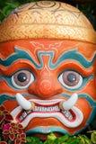 Masque protecteur d'un dieu thaïlandais Photographie stock libre de droits