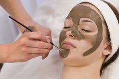 Masque protecteur de chocolat Photographie stock