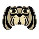 Masque protecteur de tête de chien symétrique Photographie stock