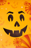 Masque protecteur orange de sourire de Halloween Images stock