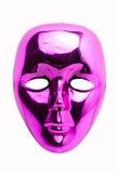 Masque rose d'isolement Photos stock