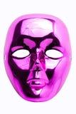 Masque rose d'isolement Photo stock