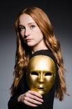Masque roux d'iwith de femme Image stock