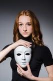 Masque roux d'iwith de femme Photographie stock