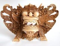 Masque-souvenir indonésien traditionnel (de Balinese) Photographie stock