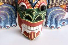 Masque-souvenir indonésien traditionnel (de Balinese) Photographie stock libre de droits
